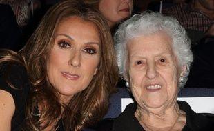Céline Dion et sa mère Thérèse, en 2010.