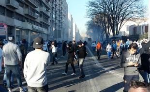Lors des affrontements en marge d'OM-PSG le 5 avril 2015.