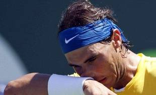 Le tennisman espagnol Rafael Nadal, lors de sa défaite à Miami face à Andy Roddick, le avril 2010.