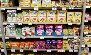 Illustration d'un rayon de sucre dans un supermarché de Nantes, le 5 octobre 2017.