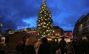 Strasbourg le 26 novembre 2017. Illustrations marché de Noël.