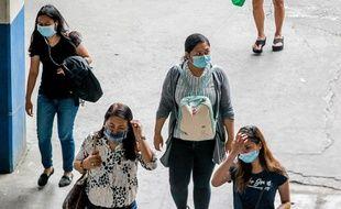 Des masques de protection en Chine, illustration