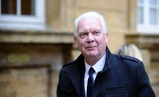 Metz (Moselle), le 25 avril 2017. Jean-Marie Beney, avocat général au procès de Francis Heaulme pour le double meurtre de Montigny-lès-Metz, arrive au palais de justice.