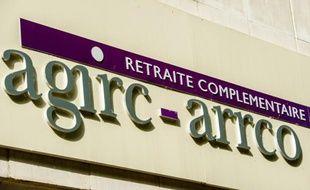 Le logo des régimes de retraites complémentaires Agirc-Arrco