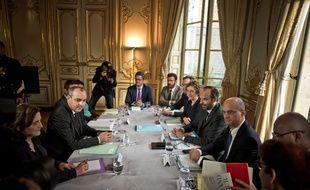 Laurent Berger, le secrétaire général de CFDT face aux ministres du gouvernement (image d'illustration).