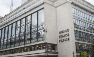 Le siège de l'Agence France-Presse, place de la Bourse à Paris, en août 2014
