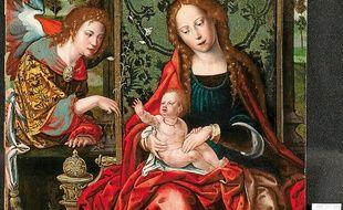 La Vierge à l'enfant  avec l'archange Gabriel.