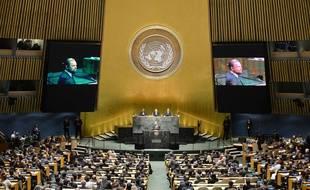 Léonardo DiCaprio à 'louverture du sommet de l'ONU pour le climat, le 23 septembre 2014.