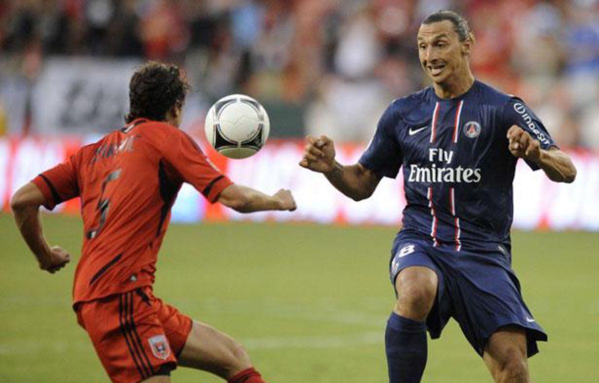 Zlatan Ibrahimovic face à DC United, le 28 juillet 2012 – Nick Wass/AP/SIPA