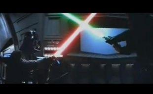 Scène du film «Star Wars - Le retour du Jedi» sur YouTube.