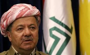 Le principal dirigeant de la région autonome du Kurdistan irakien, Massoud Barzani, le 8 décembre 2015 à Erbil