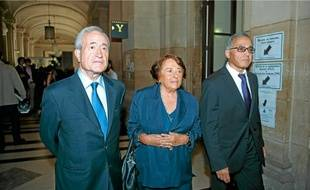 Jean Tiberi, 76 ans (à g.) et son épouse, Xavière, 74ans, hier à la cour d'appel de Paris.