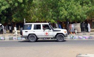 Un véhicule de la Croix Rouge à Maiduguri au Nigeria, le 7 mars 2015