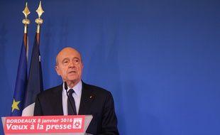 Alain Juppé, le 8 janvier 2016 à l'hôtel de ville de Bordeaux lors des voeux à la presse