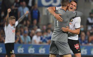 La joie des Lillois après leur victoire à Strasbourg