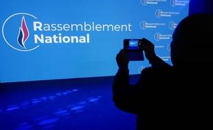 Le nouveau logo du Rassemblement national, ex-Front national