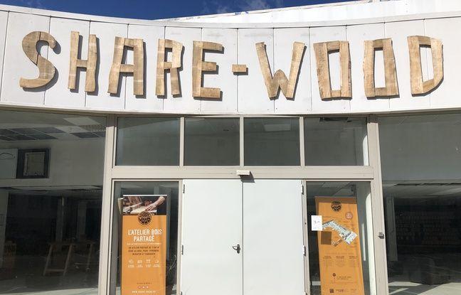 L'association Share Wood s'est installée dans une ancienne concession automobile.