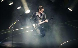 Matt Bellamy, chanteur et figure emblématique du groupe Muse, le 8 avril 2016 à Manchester.