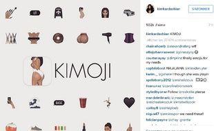 Kim Kardashian lance sa série d'émojis
