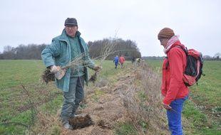 Une trentaine de militants opposés au projet d'aéroport ont planté mardi quelque 200 arbres pour recréer des haies sur 24 hectares de parcelles agricoles.