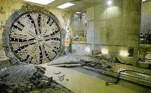 Un tunnelier similaire de 9 mètres a déjà été utilisé pour le métro lyonnais.
