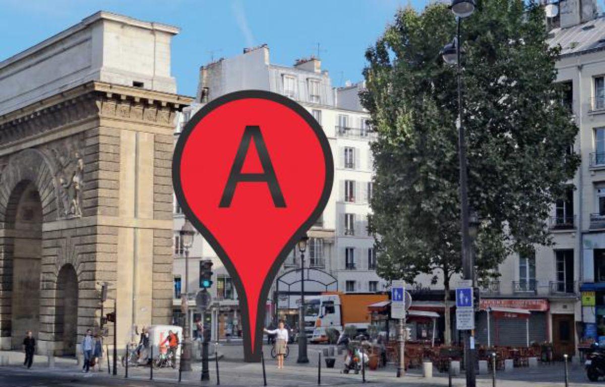 Géolocalisation, image extraite de l'Encyclopédie du Web, de Titiou Lecoq et Diane Lisarelli, chez Robert Laffont – Olivier Marty /IP-3