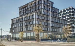 L'immeuble de bureaux à ossature bois Perspective a été inauguré à Bordeaux le 30 octobre 2018.