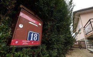Photo prise le 29 janvier 2018 de la boîte aux lettres de Jonathann Daval, à Gray-la-Ville, en Haute-Saône.