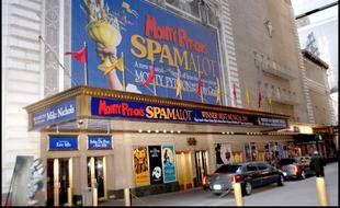 L'affiche de la comédie musicale «Spamalot» au Shubert Theater de New York en 2007