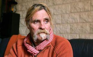 Photo prise en octobre 2008 à Mourmelon-le-Grand, d'Alain Péligat, un  des six membres de l'Arche de Zoé condamnés fin 2007 au Tchad pour  tentative d'enlèvement d'enfants.