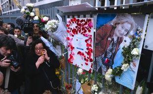 Hommage à Mireille Knoll lors d'une marche organisée à Paris, le 28 mars 2018.