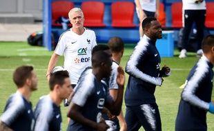 L'équipe de France à l'entraînement au stade Glebovets, à Istra, le 23 juin 2018.