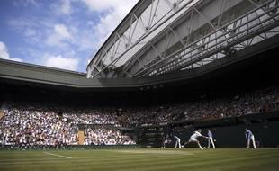 Le Central de Wimbledon pendant la finale Djokovic - Federer