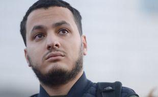 Taha Bouhafs, journaliste lors de la manifestation le 28 novembre 2020 de la Place de la Republique a la Place de la Bastille a Paris