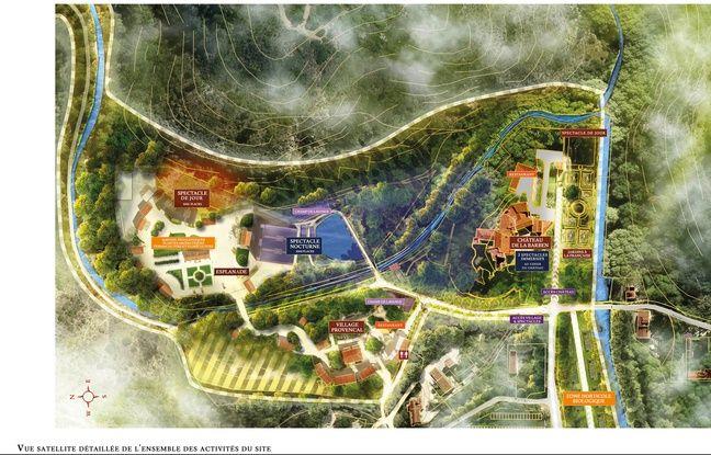 Le plan du projet du domaine de la Barben