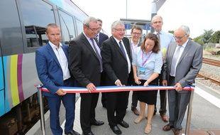 Inauguration des deux lignes modernisées à Sainte-Pazanne le 30 aout 2015