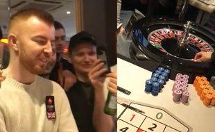 Il gagne 42.000 £ au poker et mise tout à la roulette.
