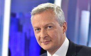 Bruno Le Maire, Depute de l'Eure, ancien ministre de l'Agriculture et candidat a la primaire de la droit et du centre sur France 5. Paris, FRANCE - 1/05/2016//IBO_IBOA.013/Credit:IBO/SIPA/1605020830