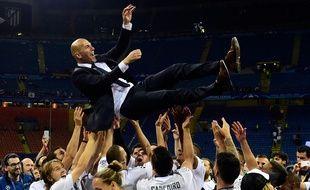 Zinédine Zidane, entraîneur du Real Madrid, le 28 mai 2016, à Milan.