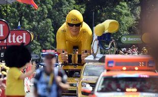 La caravane du Tour de France 2017 lors de l'arrivée a Longwy, en Meurthe-et-Moselle, le 3 juillet 2017.