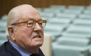 Jean-Marie Le Pen devant la Cour de justice de l'Union européenne, le 23 novembre 2017.