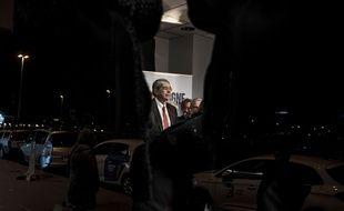 Jean-Jack Queyranne, le 6 décembre au soir du premier tour AFP PHOTO / JEFF PACHOUD
