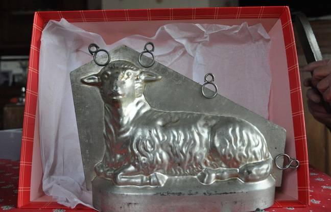 Moule d'origine westphalienne pour fabriquer des gâteaux en forme d'agneau.
