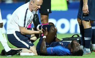 Jonathan Bamba est sorti sur blessure contre l'Angleterre