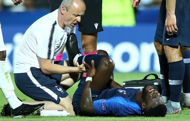 Euro espoirs: Pas de fracture pour Bamba mais on ne le reverra plus avec les Bleuets cet été