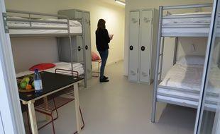 Une chambre de la nouvelle Auberge de jeunesse lilloise.