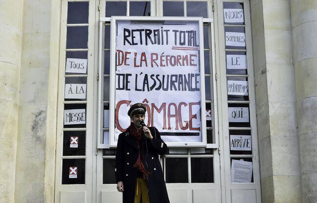 648x415 affiche demandant retrait reforme assurance chomage devant opera rennes 14 mars 2021
