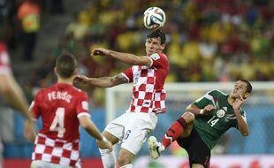 Dejan Lovren avec la Croatie lors de la Coupe du monde 2014 au Brésil.