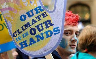 A Londres, les manifestants étaient nombreux le 5 décembre pour attirer l'attention des dirigeants sur l'urgence climatique, juste avant le sommet de Copenhague.