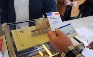 Illustration d'un vote pour un scrutin, une élection.